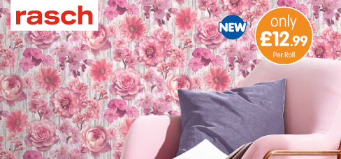 Save on Rasch Wallpaper at B&M.