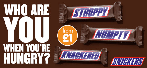 Save on Snickers at B&M.
