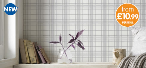 Save on Super fresco wallpaper at B&M.