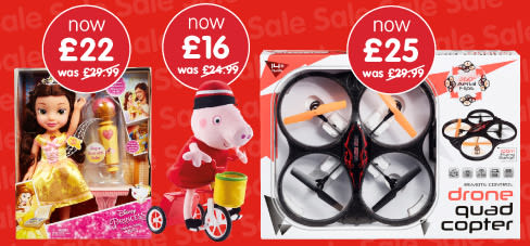 Toys sale at B&M.