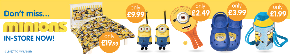 Big saving on your favourite Minions at B&M stores.