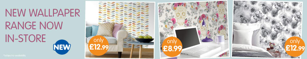 New Wallpaper Range now in store at B&M.