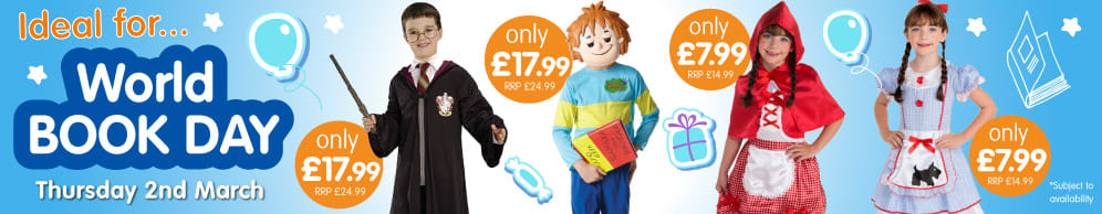 Save on kids fance dress costumes at B&M.