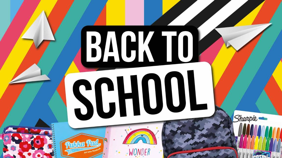 Back to School Essentials now in-store at B&M.