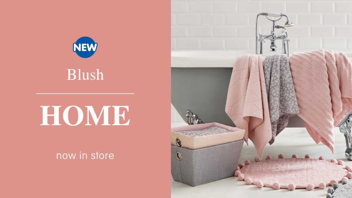 New Blush homeware range at B&M.