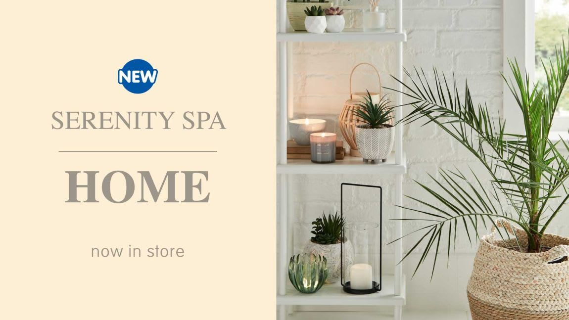 New Serenity Spa range now in store at B&M.