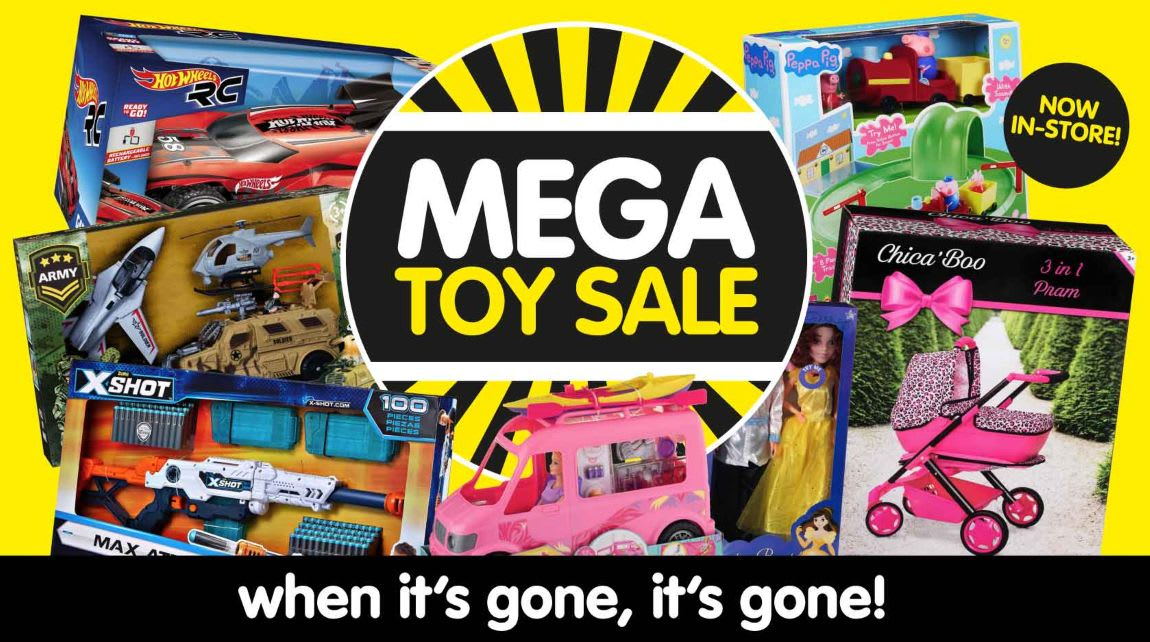 Mega Toys Sale at B&M.