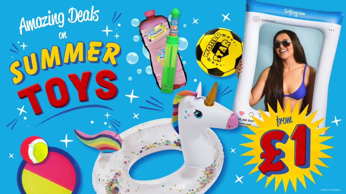 Save on Summer Toys at B&M.