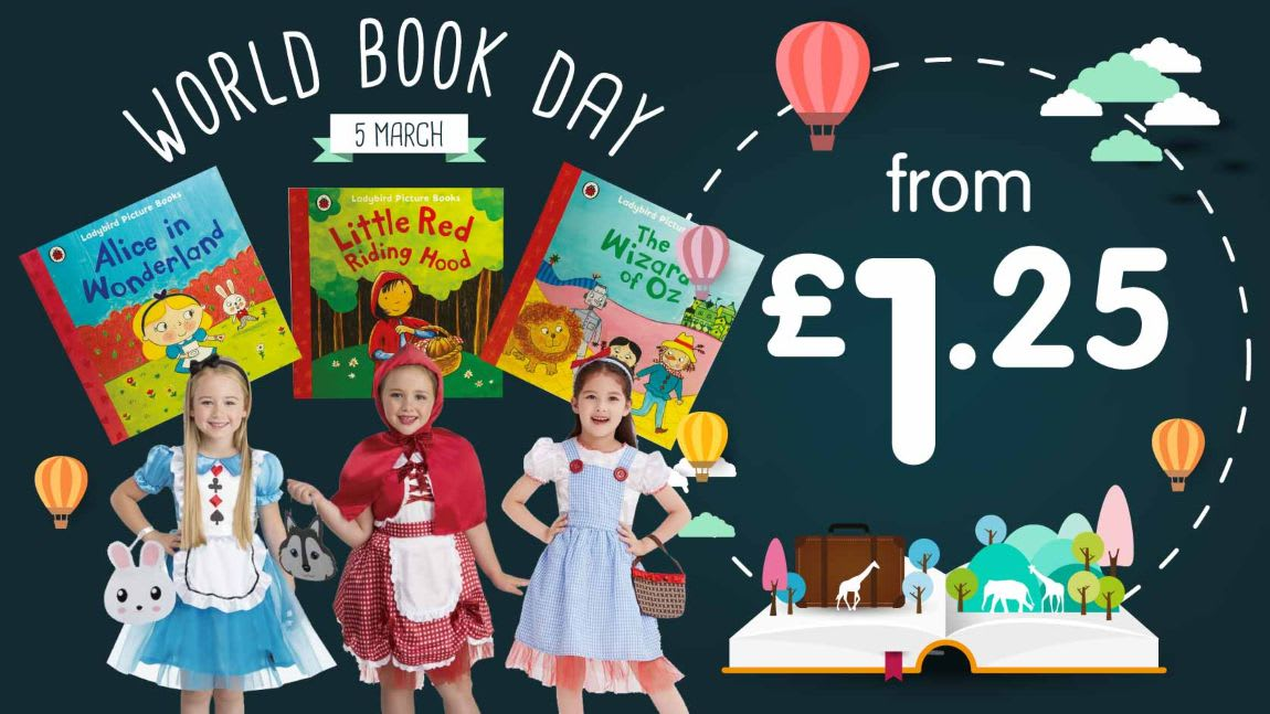Save on World Book Day costumes and books at B&M.