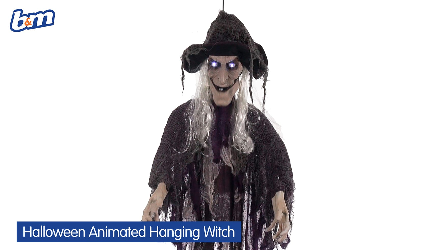 b&m lifestyle   animated talking hanging witch