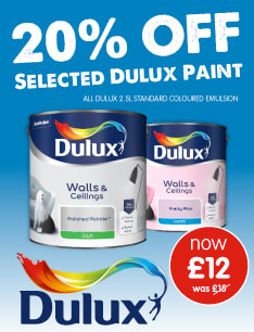 20% OFF Dulux at B&M.