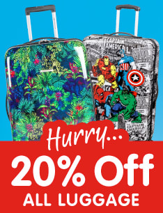 20% off All Luggage at B&M.