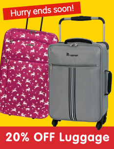 20% Off Luggage at B&M.
