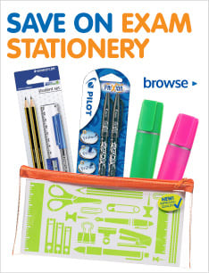 Save on exam stationery at B&M.