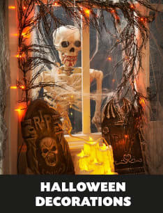 Save on Halloween Decorations and Lights at B&M.