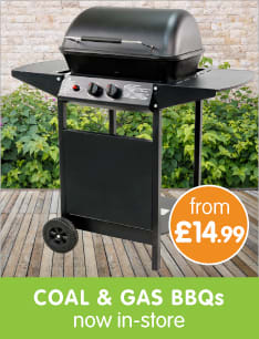 Save on BBQs at B&M.