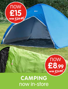 Save on Camping at B&M.