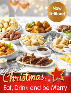 Save on Christmas food and drink at B&M.