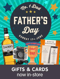 Save on Father's Day Gifts and Cards at B&M.