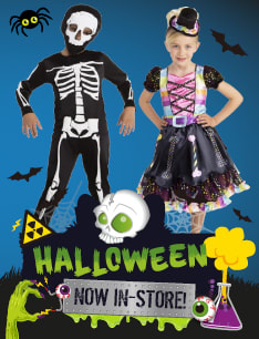 Halloween now in store at B&M.
