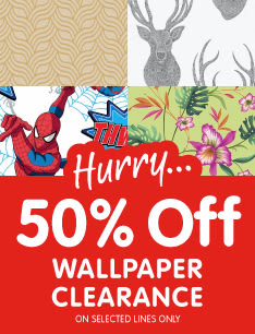 Wallpaper Clearance now in store at B&M.