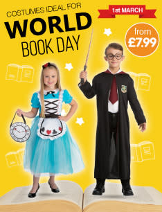 Dress up for world book day at B&M.