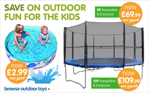 Save on trampolines and paddling pools at B&M.