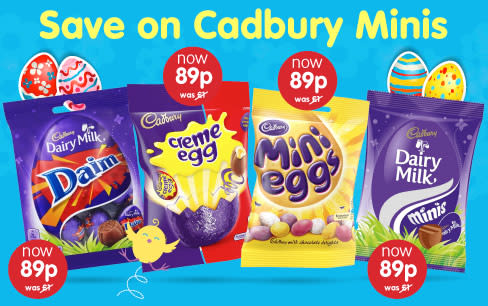Save on Cadbury Minis at B&M.