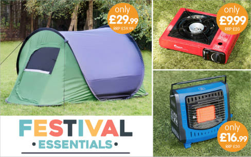 Save on Festival Essentials at B&M.