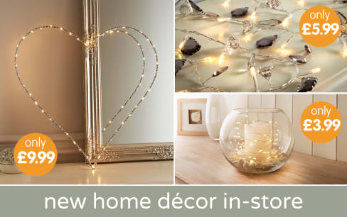 Save on our new range of home decor at B&M.