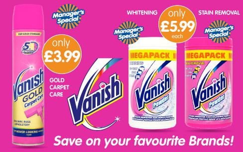 Save on Vanish at B&M.