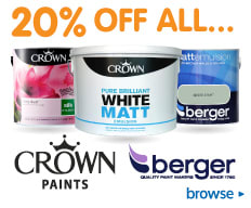 20% Off all Crown & Berger Paints