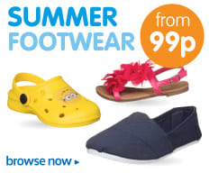 Save on Summer Footwear from 99p at B&M Stores.