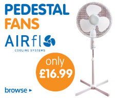 Save on summer electric and hand held fans at B&M.