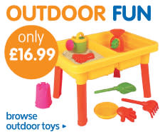 Big selection of outdoor toys for all the kids at B&M including paddling pools.
