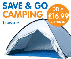 Save and go camping from B&M.
