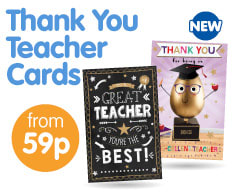 Save on Thank You Teacher Cards at B&M