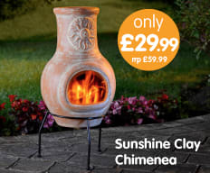 Save on Chimeneas at B&M.