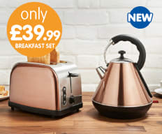 Copper Breakfast Set at B&M.