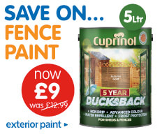 Save on fence and exterior paint at B&M.