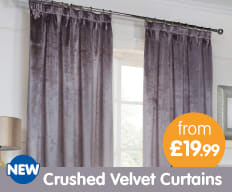 Save on Velvet Curtains at B&M.