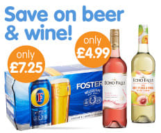 Save on beer and wine at B&M.