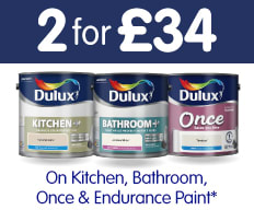2 for £34 on Dulux.