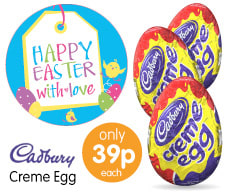 Save on Cadbury Eggs at B&M.