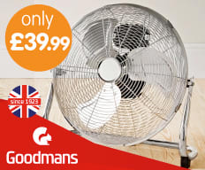 Save on Goodmans Fans at B&M.