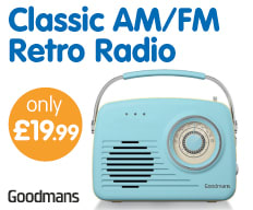 Save on Goodmans Retro Radio at B&M.