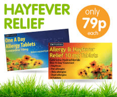 Save on Hayfever Relief at B&M.