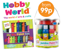 Save on Hobby World craft at B&M.