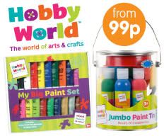 Save on Craft with Hobby World Exclusive at B&M.