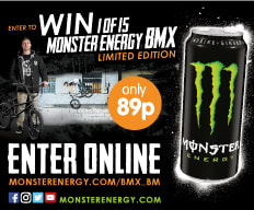 Win 1 of 15 Limited Edition BMX's from Monster Energy Drinks.
